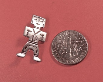 Vintage Tiny Sterling Indian Man Brooch
