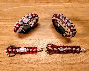 Kappa Alpha Psi Fraternity Inspired Paracord Bracelet, Keychain or Set