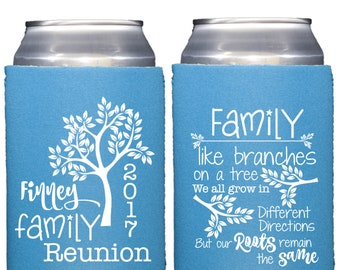 Family Reunion Favors, Family Party Favors, Personalized Family Reunion Favors, Family Party, Bottle Cover, Beer Can Covers