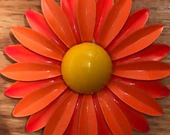 1960s Vintage Orange flower