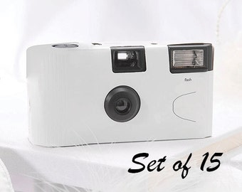 15 Disposable Cameras - Wedding Favor - White Camera - White Wedding - Photo Booth - Party - Single Use - Set of 15