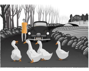 We brake for Geese