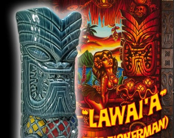 "BigToe Tiki Farm  ""Lawai'a"" Hand-signed Tiki Mug"