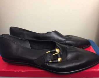 1970s avellini , womans shoes with buckle, size 8.5m