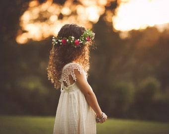 Boho Flower Girl Dress, Photoshoot dress, Family photo dress, Flower Girl, Special occasion dress, Toddler Girl Dress by bitty bambu