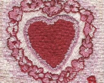 Valentine in flower wreath