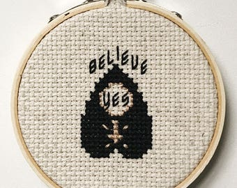Ouija Planchette Cross Stitch Pattern