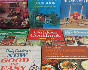 Vintage Betty Crocker Cookbooks- Your Choice! Good & Easy, Dinner Two, Hostess, Outdoor, Barbecue, Family Dinner, Do Ahead, Dinner Parties