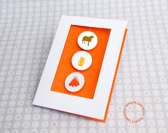 Ewe Light My Fire Rebus Anniversary Card