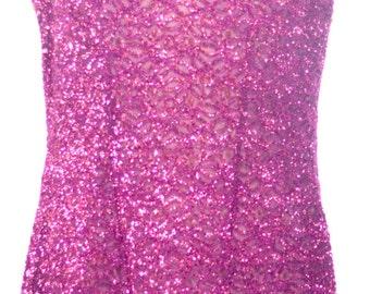 Vintage Eighties Sparkly Sheath Burgundy Evening Dress