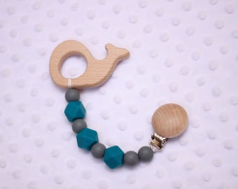 Natural Wood Teether Clip