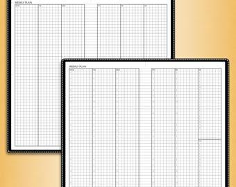 Undated WEEKLY planner, #U-WCW2 (standard inserts, standard travelers notebook insert, standard tn inserts, standard printable)