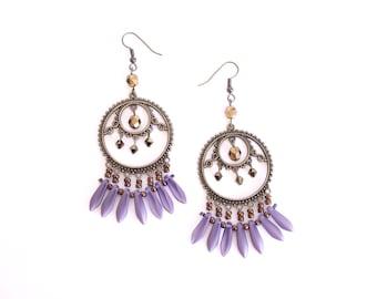 Translucent Purple Gypsy earrings