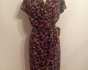 LORIS AZZARO Silk Dress   Mulitcolor   4/6