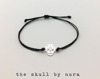 Zilveren armband schedel