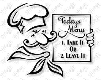 Take It Or Leave It Chef with Menu SVG