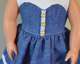 18 inch fits American Girl Doll Dress