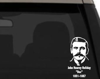 Say When Tombstone Vinyl Decal Sticker