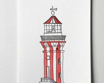Hornby Lighthouse Sydney Letterpress mini print