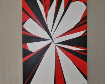 Geometric abstract painting on canvas - the nugget