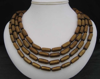 Gold Coral Four Strand Necklace