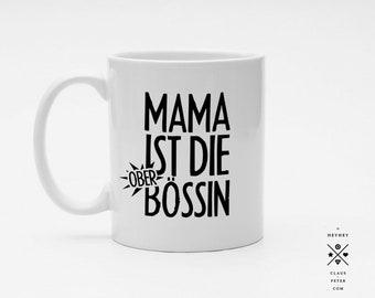 Ξ cupcup | tasse | mama ist die oberbössin | muttertag | familie | geschenk | mama und papa