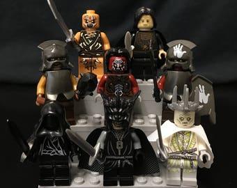 Lord Of The Rings The Hobbit Minifigures Set of 8 Enemies Custom Minifigures