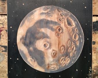 Moon, Full Moon art, Moon Painting