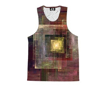 Abstract Art Tank Top - Festival Clothing - Beautiful Artwork - Sublimation Print - Comfy Art Shirt
