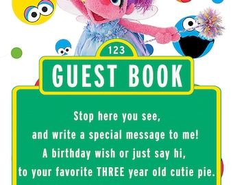Sesame Street Abby Cadabby Guest Book Sign for 3 year old girl