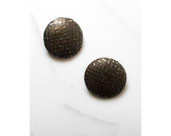 Vintage Snakeskin Earrings