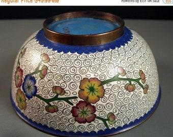 50% off SALE Vintage Antique Chinese Cloisonne Bowl