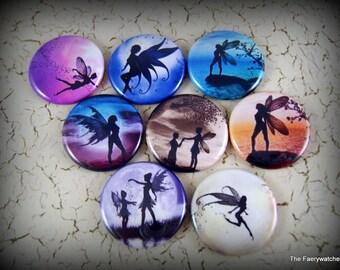 Fairy Magnets, Fairy Pins, Fairy Flatbacks, Fairy Cabochon, Fairy Party Favor, Fairy Wedding, Fairie Magnet, 12 count Set A