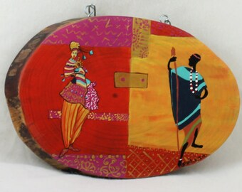 Wood Photo Unusual Wall Hanging African décor