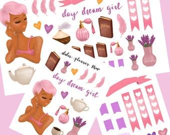 Day Dream Girl Planner Sticker- Happy Planner/Passion Planner/Filofax/Bullet Journal/Traveler's Notebook/MAMBI