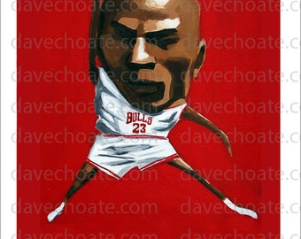 Chicago Bulls, Michael Jordan.-ART Photo Print