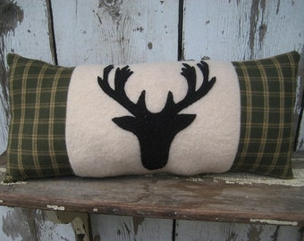 Wool Stag Pillow