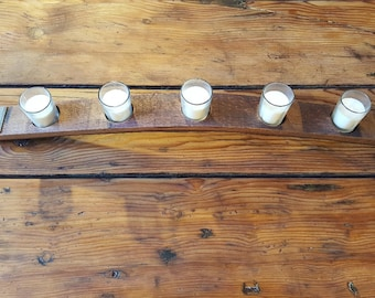 Barrel Stave 5 Candle Holder