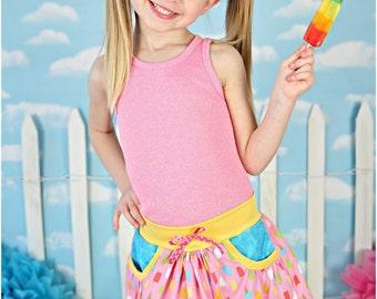 Skip Along Skort: Girls Skort Pattern, Girls Skirt Pattern, Baby Skirt Pattern, Toddler Skirt Pattern