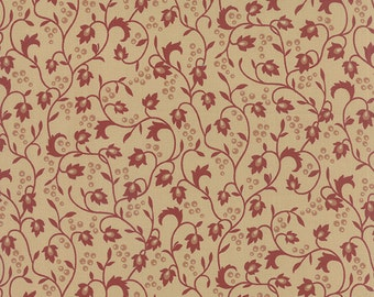 Sticks & Stones - Vines Berries in Red by Laundry Basket Quilts for Moda Fabrics