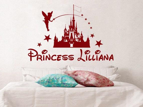 Ch teau de disney sticker mural personnalis princesse fille - Tickers chambre fille princesse ...