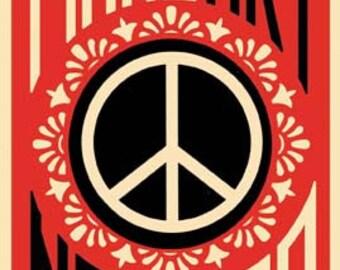 Vintage Style Make Art Not War peace  1970's  Bumper Sticker   Travel Decal sticker