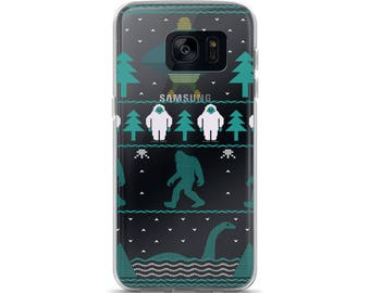 Sci Fi Bigfoot Aliens Yeti Ugly Christmas Sweater Funny Samsung Case