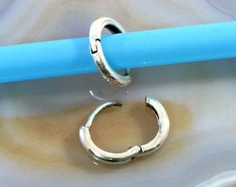 Hoops 925 sterling silver  --  2066