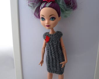 Free shipping! Ever After High doll knitted dress, stretch.