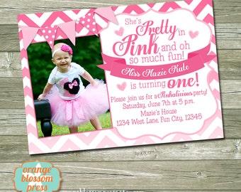 Pinkalicious Invitation Etsy
