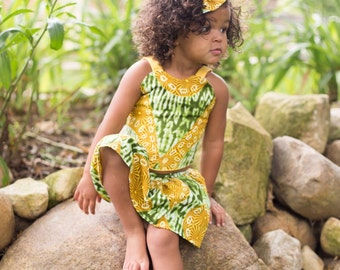 Girls African Baby Clothes, Skirt Girl's Crop Top, Hair Bow, African Clothing, Baby Crop Top, Girls Clothing, Girls African Outfit