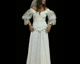 MADE to ORDER Victorian Steampunk  Wedding Bridal Gown Dress - Your Size!