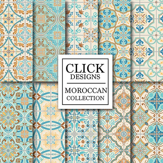 Marokkanische Fliesen marokkanische digital paper retro marokkanische