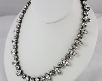 Classic Crystal 15x7mm Navette and 8mm Swarovski Crystal Necklace